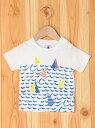 【SALE/40%OFF】PETIT BATEAU (K)プリント半袖Tシャツ プチバトー カットソー【RBA_S】【RBA_E】