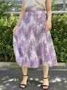【SALE/59%OFF】MEW'S REFINED CLOTHES 大柄レースフレアスカート ミューズ リファインド クローズ スカート フレアスカート パープル イエロー ネイビー