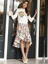 【SALE/30%OFF】Million Carats noranoel roseスカート[DRESS/ドレス] ミリオンカラッツ スカート フレアスカート ホワイト ブラック【送料無料】