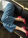 Ranan キレイ見えワイドデニム ラナン パンツ/ジーンズ フルレングス ブルー【送料無料】
