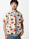 【SALE/46%OFF】BEAMS / 総柄 オープンカラーシャツ ビームス メン シャツ/ブラウス【RBA_S】【RBA_E】【送料無料】