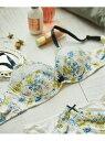 【SALE/40%OFF】une nana cool Botanical squall 大きな胸を小さく見せるミニマイザーブラ (フルカップブラジャー) ウンナナクール イ..