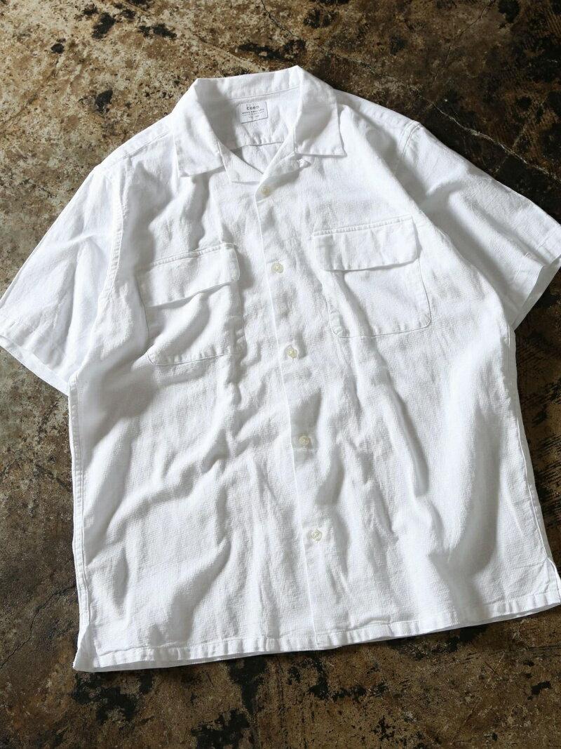 【SALE/55%OFF】パナマリラクシングオープンカラーシャツ コーエン シャツ/ブラウス【RBA_S】【RBA_E】