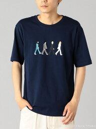 SHIPS SC___ THE BEATLES Tシャツ シップス カットソー Tシャツ ネイビー ホワイト グレー ベージュ ブラウン ブルー【送料無料】