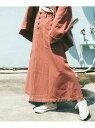 DOUBLE NAME 【merモデルまるちゃん着用】配色ステッチベイカーポケスカート レイカズン スカート 台形スカート/コクーンスカート ブラウン ベージュ ブラック【送料無料】