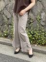 【SALE/69%OFF】MEW'S REFINED CLOTHES サイドスリットワイドパンツ ミューズ リファインド クローズ パンツ/ジーンズ ワイド/バギーパンツ ブラック グレー ブラウン