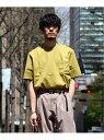 【SALE/30%OFF】EDIFICE COTTON WIDE PK T-SHIRT エディフィス カットソー Tシャツ イエロー グリーン ネイビー ホワイト ベージュ【送料無料】