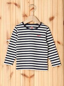 X-girl Stages STRIPED L/S TEE(12M,2T) エックスガールステージス【送料無料】