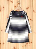 X-girl Stages STRIPED L/S DRESS(4T~7T) エックスガールステージス【送料無料】