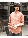 GLOBAL WORK (M)OXフォードB.Dシャツ グローバルワーク シャツ/ブラウス 長袖シャツ オレンジ ブルー ベージュ ホワイト