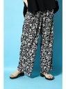 【SALE/60%OFF】AZUL by moussy ランダムフラワー柄タックベルテッドパンツMOOK番号93101 アズールバイマウジー パンツ/ジーンズ【RBA..