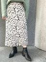 UNRELISH レオパードストレートスカート アンレリッシュ スカート【送料無料】