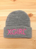 X-girl Stages KNIT CAP EMBROIDERY LOGO エックスガールステージス【送料無料】