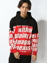 【SALE/47%OFF】BROWNY 【BROWNY】(M)切替ストリートロゴパーカー ウィゴー カットソー【RBA_S】【RBA_E】