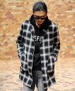 【SALE/55%OFF】RATTLE TRAP ネルチェックシャツジャケット メンズ ビギ シャツ/ブラウス 長袖シャツ グレー レッド