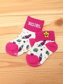 X-girl Stages 2WAY SOCKS SPACE FLIGHT エックスガールステージス