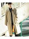 JUNRed 【オーバーコート】バックチェックステンカラーコート ジュンレッド コート/ジャケット【送料無料】