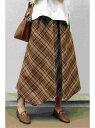 ikka ベルト付きヘムスカート イッカ スカート ロングスカート ブラウン ブラック ベージュ【送料無料】