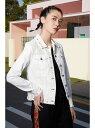 【SALE/50%OFF】Desigual デニムジャケット BARROC デシグアル コート/ジャケット デニムジャケット ホワイト【送料無料】
