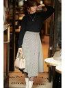 PROPORTION BODY DRESSING ◆千鳥チェックアシメフレアースカート プロポーションボディドレッシング スカート スカートその他 ブラウン ベージュ【送料無料】