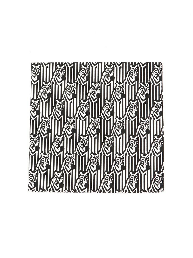 Ray BEAMS Ray BEAMS / ゼブラ ハンカチ レイ ビームス アニマル 総柄 ギフト プレゼント コットン ビームス ウイメン ファッショングッズ