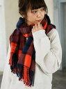 【SALE/60%OFF】17FWチェックストール ローリーズファーム ファッショングッズ【RBA_S】【RBA_E】