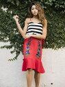 【SALE/30%OFF】Million Carats フラワーマリンワンピース[DRESS/ドレス] ミリオンカラッツ アウトレット ワンピース キャミワンピース レッド ネイビー【送料無料】