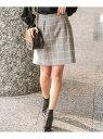 【SALE/50%OFF】ROPE' ウィンドペンチェックシャギースカート ロペ スカート【RBA_S】【RBA_E】【送料無料】
