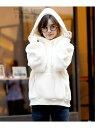 【SALE/46%OFF】Girly Doll GirlyDoll/ベーシックボアパーカー ドゥーラ ドゥーラ カットソー パーカー ホワイト グレー