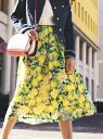 【SALE/40%OFF】【WEB別注色あり】レモンプリントスカート ビアッジョブルー スカート【RBA_S】【RBA_E】【送料無料】