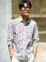 【SALE/50%OFF】MEN'S BIGI フラワープリントシャツ(花柄)/7分袖 メンズ ビギ シャツ/ブラウス【RBA_S】【RBA_E】【送料無料】