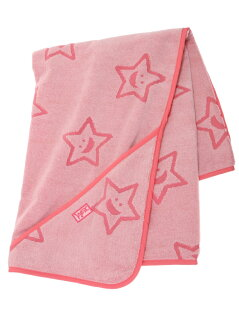 """""""STAR""""TERRY_CLOTH_AFGHAN_PINK"""