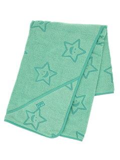 """STAR""TERRY_CLOTH_AFGHAN_GREEN"