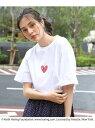 【SALE/50%OFF】THE SHOP TK Keith Haring/キースヘリング プリント半袖Tシャツ/ユニセックスでオススメ!! ザ ショップ ティーケー カットソー Tシャツ ホワイト