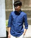 【SALE/50%OFF】MEN'S BIGI ボタニカルジャガードシャツ 7 分袖/リネン混 メンズ ビギ シャツ/ブラウス【RBA_S】【RBA_E】【送料無料】