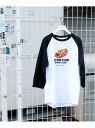 ショッピンググラグラ JOINT WORKS 【FATDOGSTAND/ファットドッグスタンド】ホットドッグ ラグランT ジョイントワークス カットソー Tシャツ ホワイト【送料無料】