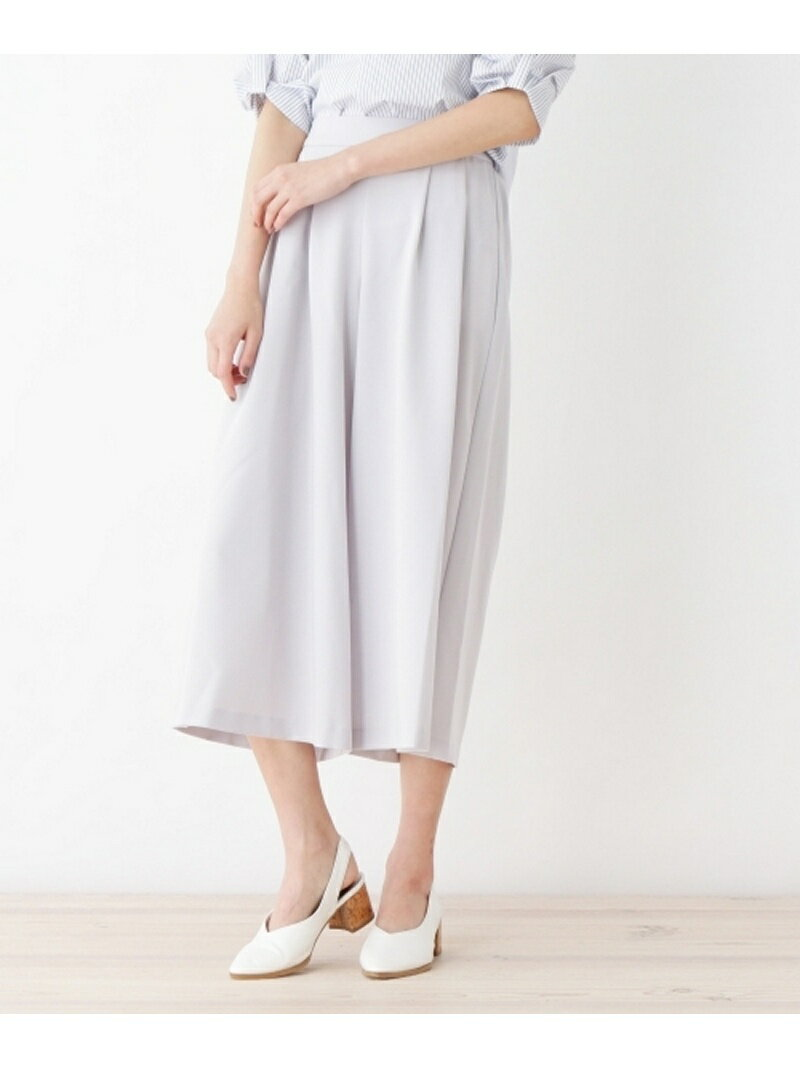 【SALE/60%OFF】index 【洗える】タック入りスカーチョパンツ インデックス パンツ/ジーンズ【RBA_S】【RBA_E】