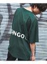 【SALE/50%OFF】KANGOL KANGOL×Rocky Monroe別注 USAコットンドルマンBIGTee ロッキーモンロー カットソー Tシャツ グリーン ホワイト ブラック ベージュ