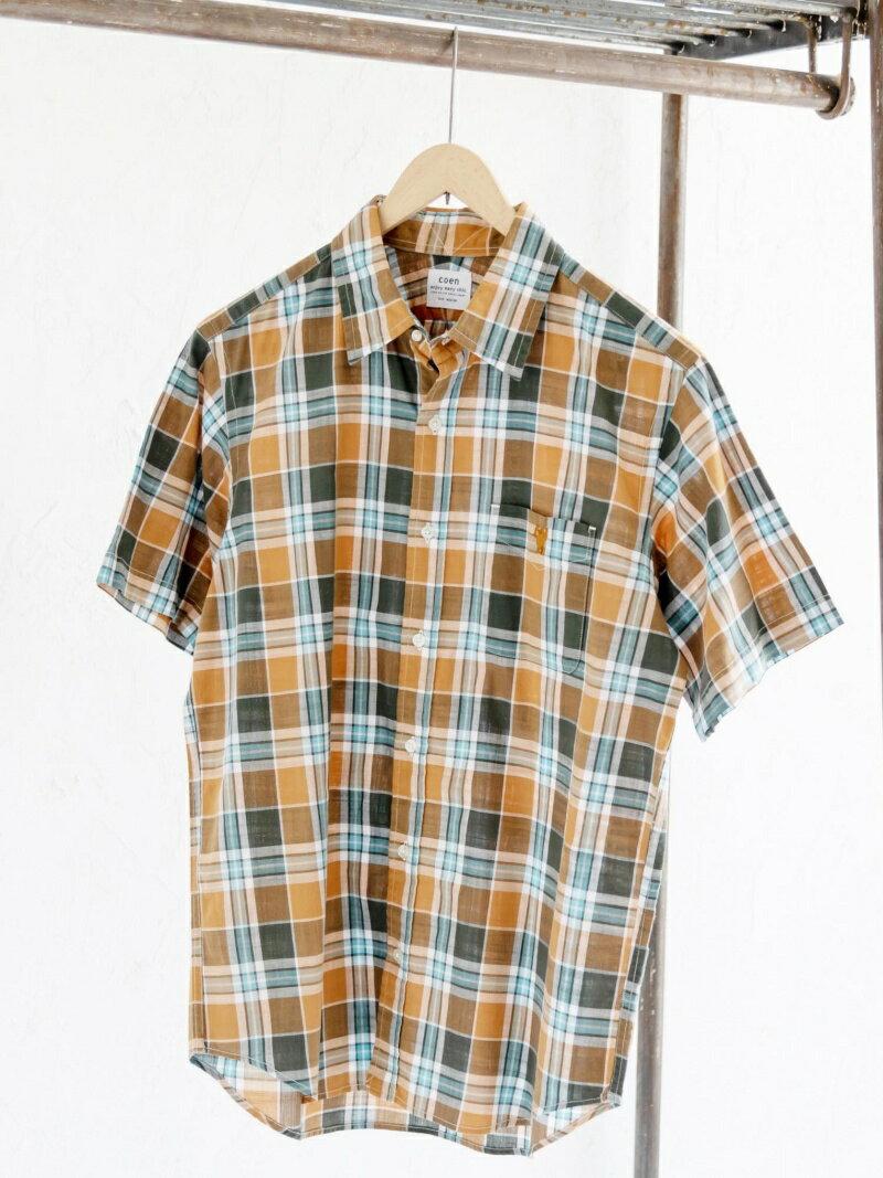 【SALE/55%OFF】ウォッシュチェックシャツ コーエン シャツ/ブラウス【RBA_S】【RBA_E】