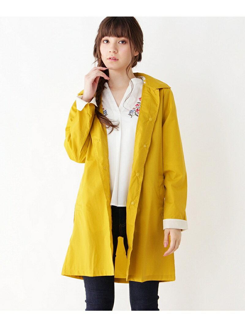 grove 【雨の日OK】ステンカラーレインコート グローブ コート/ジャケット