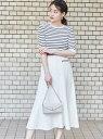 【SALE/50%OFF】EMMEL REFINES SMFブークレフレアパイピングスカート エメルリファインズ スカート フレアスカート ホワイト イエロー ネイビー【送料無料】