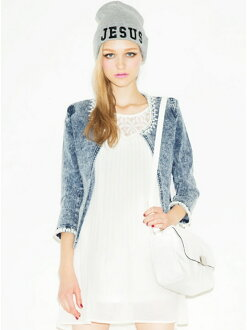 MURUA パールデコ line denim JK