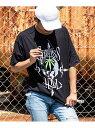 【SALE/50%OFF】163 163/Cypress Hill 裾テープ付ビッグシルエットTシャツ シフォン カットソー Tシャツ ブラック