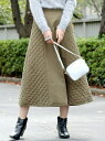 【SALE/70%OFF】UNRELISH キルティングAラインスカート アンレリッシュ スカート【RBA_S】【RBA_E】