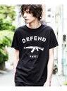 DEFEND PARIS DEFEND PARIS/PARIS TEE シフォン カットソー Tシャツ ブラック ホワイト【送料無料】