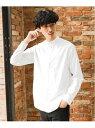 GLOBAL WORK (M)OXフォードバンドシャツ グローバルワーク シャツ/ブラウス 長袖シャツ ホワイト カーキ グレー ブルー