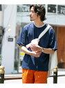 Sonny Label ポケット付コンパクトスムースTシャツ サニーレーベル カットソー Tシャツ ネイビー ホワイト ブラウン カーキ