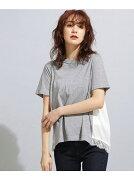 【SALE/50%OFF】nano・universe MUVEILWORK×AntiSoaked裾レースTシャツ ナノユニバース カットソー【RBA_S】【RBA_E】【送料無料】