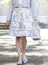 【SALE/42%OFF】TO BE CHIC ラインフラワープリントスカート トゥー ビー シック スカート ロングスカート ホワイト【送料無料】