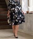 TO BE CHIC フラワーサテンフレアースカート トゥー ビー シック スカート ロングスカート ブラック ピンク【送料無料】